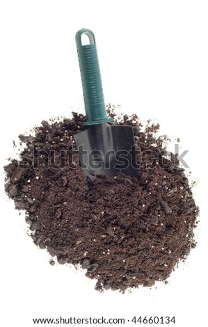 Gardening trowel isolated on a white