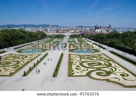 Gardens at the Belvedere Palace