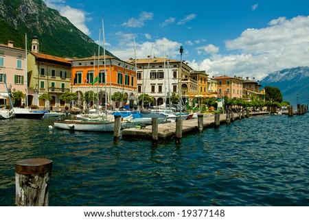 Gargnano bay on Garda lake