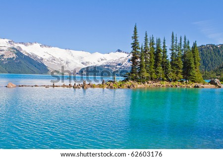 Garibaldi lake in Canada - stock photo