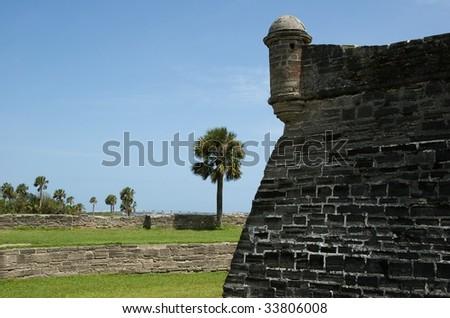 Garita on NW Corner of Castillo de San Marcos - Landscape