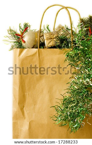 garland and bag
