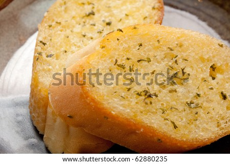 Garlic bread close-up.