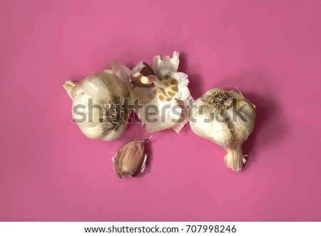 Garlic clove and heads #707998246