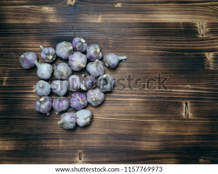 Garlic Cloves on a wooden table top Сток-фото ©