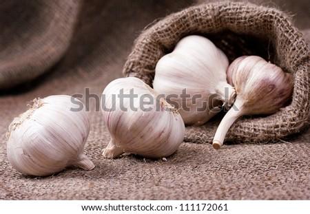 Garlic in bag