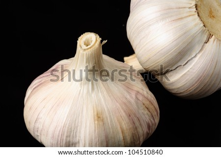 Garlic on black