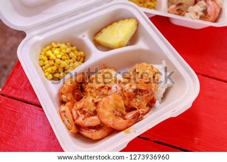 Garlic shrimps at North shore Oahu - Image