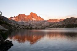 Garnet Lake on the John Muir Trail, Alpine Glow