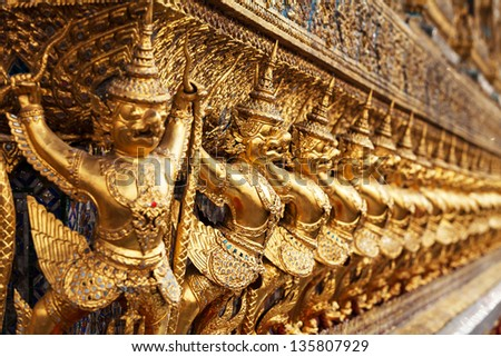 Garuda in Wat Phra Kaew Grand Palace of Thailand to find.