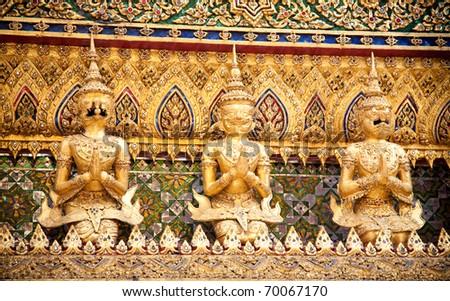 Garuda, King of the birds. Emerald Buddha Temple. Grand Palace, Bangkok, Thailand