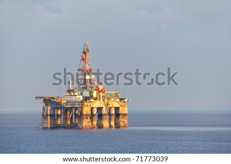 Gas and oil rig platform