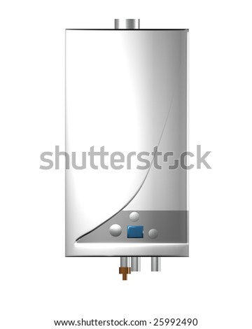 Gas boiler isolated on the white background. Including clipping path.