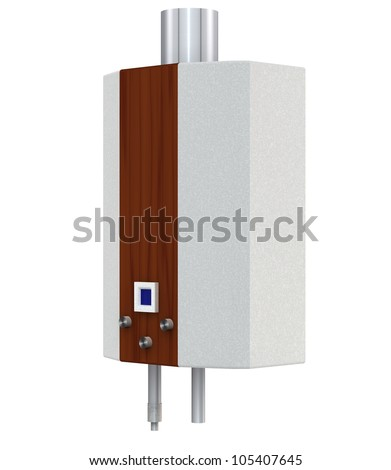 Gas boiler on a white background