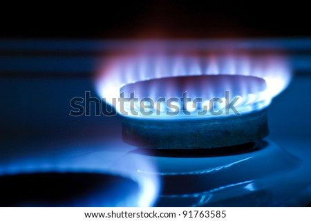 Gas burners in the kitchen oven