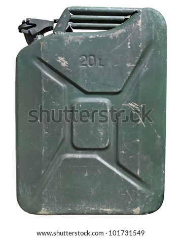Gas can isolated on white background