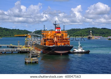 gas-carrier in port for loading