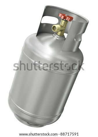 Gas container isolated on white background. 3D render.