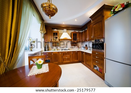 Gas cooker on modern and beautiful kitchen