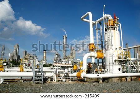 Gas distribution center in bontang, kalimantan, Indonesia #915409