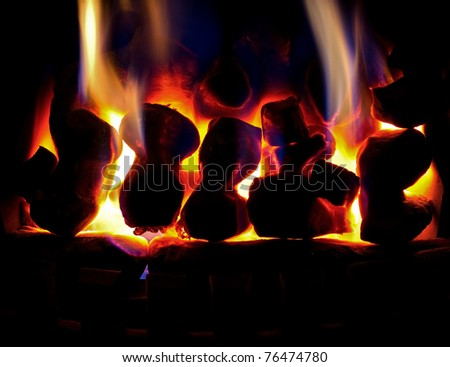 Gas fire fireplace
