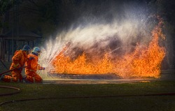 Gas Flame and Explosive from Gas Tank, LPG gas tank leaking fire, dangerous, accident.