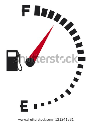 gas gauge (gas tank, gas gage, fuel gauge)
