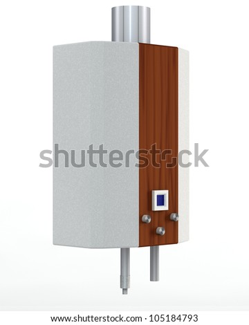 gas heater on a white background