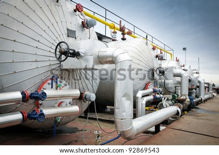 Gas industry tanks