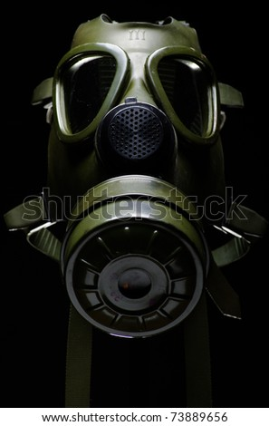 Gas mask isolated on black
