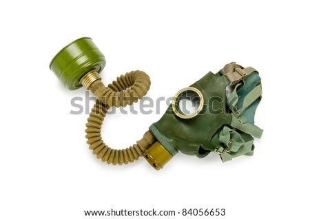 Gas mask isolated on the white background