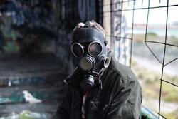 gas mask man