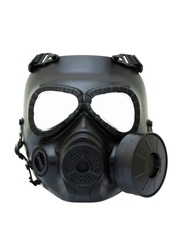 gas mask protect toxin biohazard isolated on white background clipping path