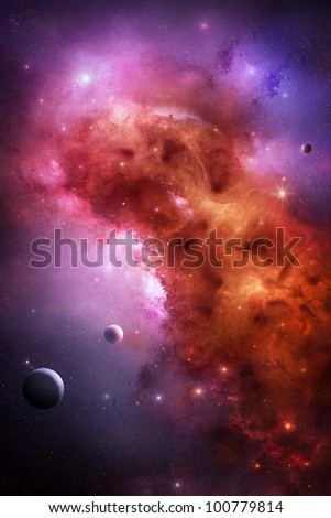 Gas nebula in outer space