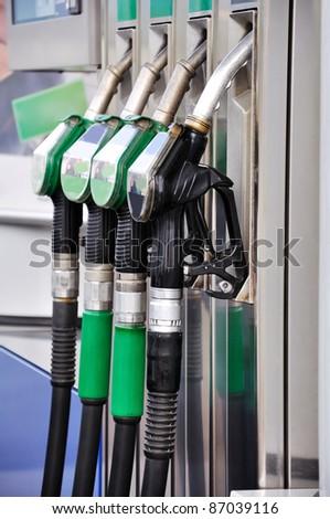 Gas nozzles close up