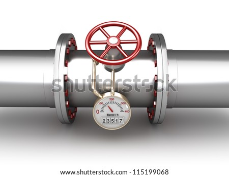 Gas pipeline - concept - stock photo