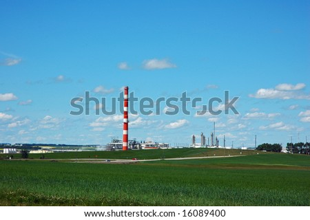 gas plant and blue sky