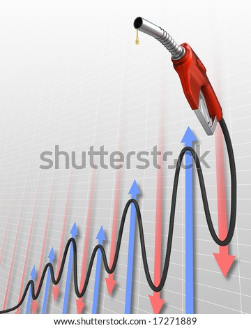 Gas Price (Oscillation Stock Market). The pipe in the format of a chart, representing the value of gas.