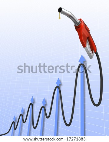 Gas Price (Positive Stock Market). The pipe in the format of a chart, representing the value of gas.