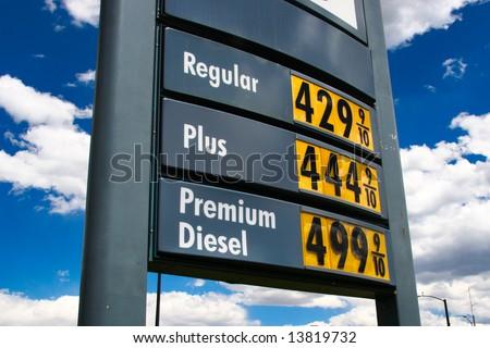 gas price sky high, plus 4.44