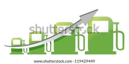 gas pump graph illustration design over a white background design over white
