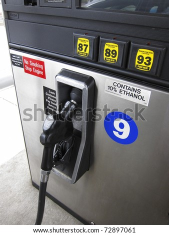 Gas pump nozzle and octane ratings