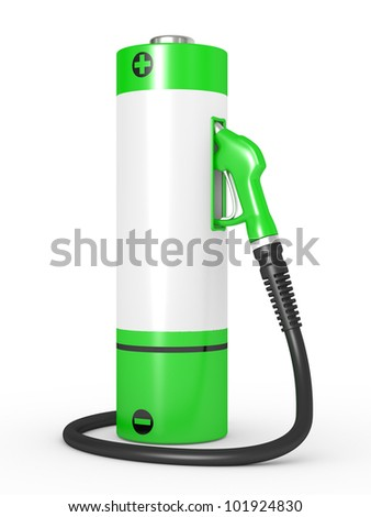 Gas pump nozzles in a fuel station. Concept of use of nonconventional energy sources