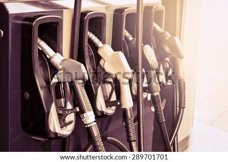 gas pump nozzles in service...