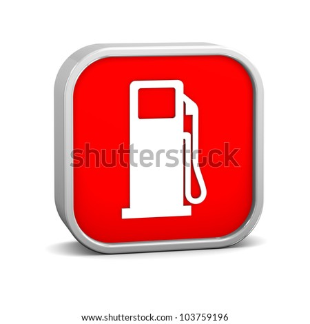 Gas sign on a white background. Part of a series.