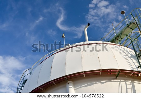Gas sphere  tank  in petrochemical plant