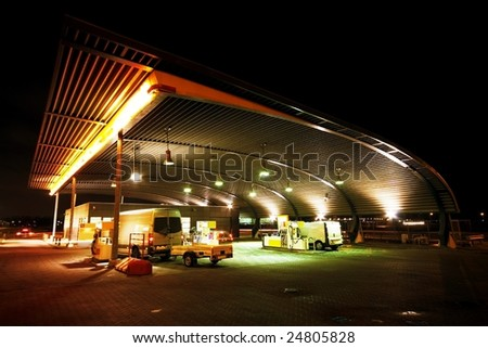Gas station by night