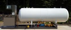 Gas station fuel tank