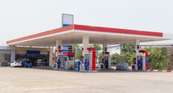 gas station, Fueling and gas locations for motorbikes and cars, Engine resting stations for long-distance vehicles and travelers across the city.