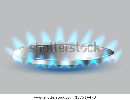 Gas stove burner illustration